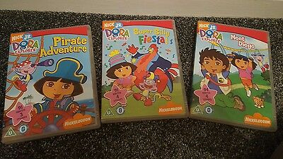 Dora the Explorer dvds x3