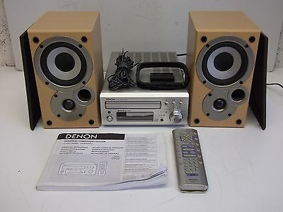 Denon D-M30 Micro Component System CD Player Receiver Tuner Speakers Remote