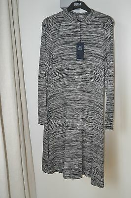 NEW MARKS AND SPENCER LADIES FINE KNIT JUMPER DRESS  SIZE 8 Regular