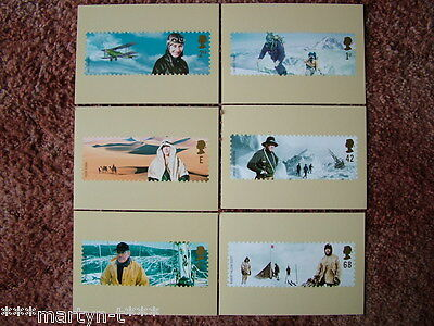 PHQ Stamp card set No 252 Extreme Endeavours, 2003. 6 card set  Mint Condition