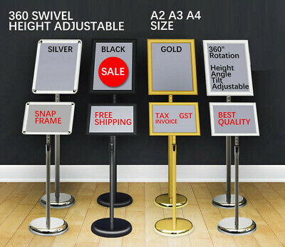 NEW A2 A3 A4 Floor Poster Stand Foyer Pedestal Sign Holder Business Menu Display