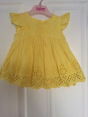 Next Girls Yellow Top - 9-12 Months