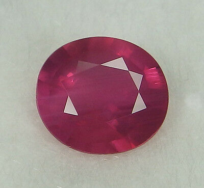 GIA Certified Unheated Natural Ruby Pinkish Red Oval 2.39 ct Rare