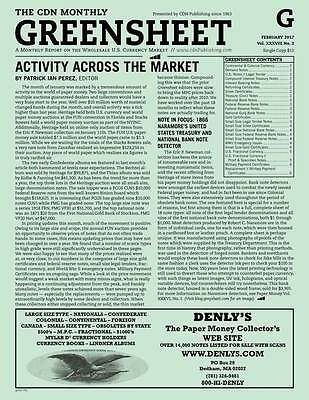 GREENSHEET: Currency Dealer Newsletter - Single Copy - Current Issue - FREE SHIP