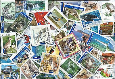 selection 50 DIFFERENT international post AUSTRALIAN STAMPS - no xmas