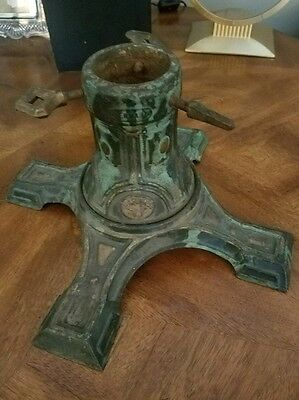 Rare Antique German Cast Iron Christmas Tree Stand Manufacturer Harras 1900