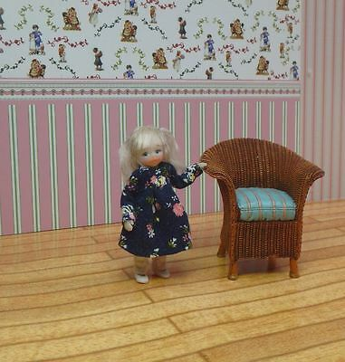 OOAK Miniature Handmade Sculpt Doll Baby Girl House Artist 1/12