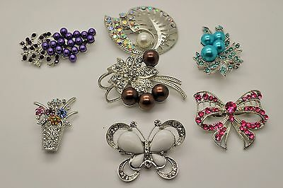Wholesale Lot 7 Pins  Vintage Style  Brooches Pins Mix color  Bouquet  EE28