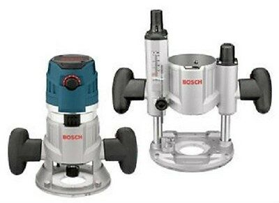 Bosch Mrc23Evsk Router System Kit Fixed & Plunge Base 1/4 & 1/2 Collet Electric