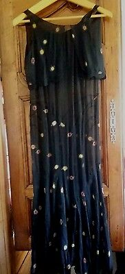 Robe de soirée 1920 broderie Antique French Art Deco Evening Dress