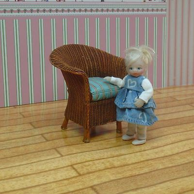 OOAK Miniature Handmade Sculpt Doll  Girl House Artist 1/12