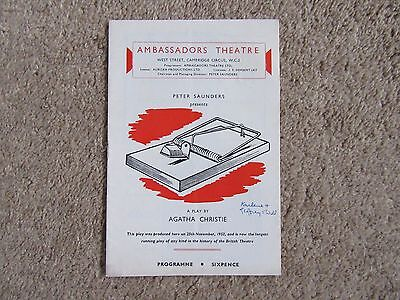 1960 The Mousetrap (Agatha Christie), David Aylmer, Peter French, David Raven