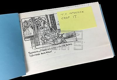 LITTLE SHOP OF HORRORS (1986) movie film original production used Storyboard set