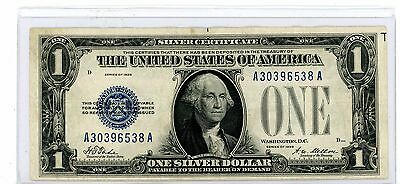 1928 $1 Silver Certificate, Funny Back Note, Blue Seal # 538A