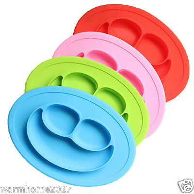 Toddler Baby Diner Portable Dish Bowl Plates Tray Silicone Kid Placemat Mat 1PCS