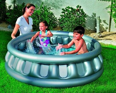 Inflatable Swimming Pool Children Outdoor Garden Play Activity Grey Paddling