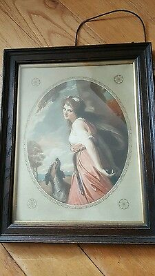 Vintage picture (possibly watercolour) in original oak frame