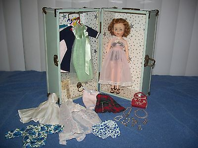 Vintage American Character Toni Doll Red Hair w/ Outfits Purse Jewelry & Case