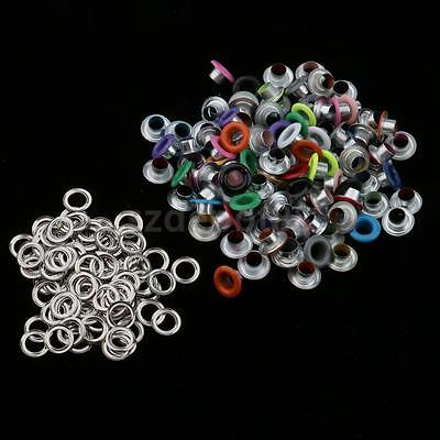 100pcs Metal Eyelets Buckle for Leathercraft Scrapbooking Decoration 5mm