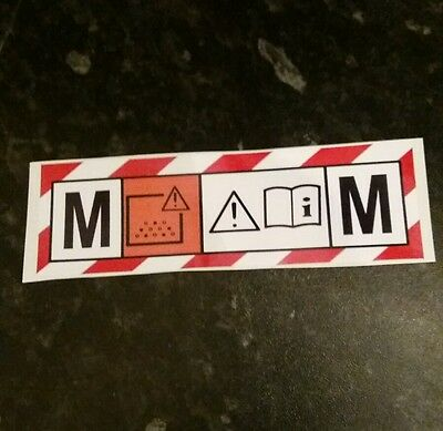 M CLASS VACUUM HOOVER extractor Sticker/Decal