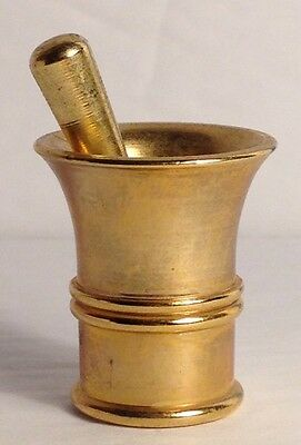 Brass Mortar and Pestle