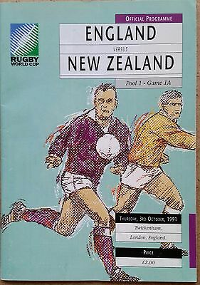 England v New Zealand 1991 Rugby World Cup Programme
