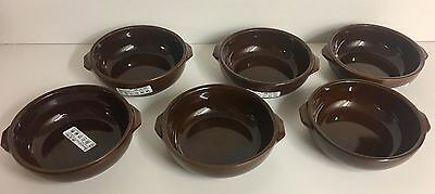 Set of 6 x 17cm made in Italy Terracotta Pie Dishes Tapas gnocchi 5cm deep