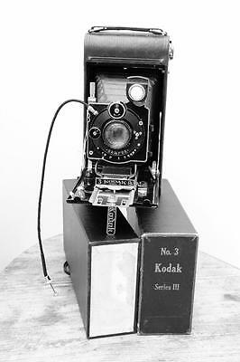 KODAK / ZEISS No3 SERIES III AUTOGRAPHIC A118 w. ZEISS TESSAR 1:4.5 f=12cm +BOX