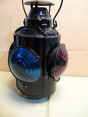 Vintage Piper HLP RAILWAY branded 4 Lens RAILROAD SWITCH LANTERN
