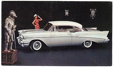 1957 CHEVROLET TWO-TEN SPORT COUPE - Original dealer advertising postcard