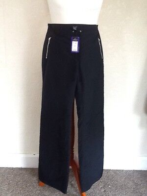 Autograph New York Size 12 Long Black Fleece Lined Walking Hiking Trousers