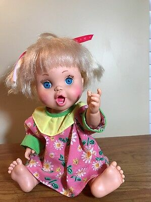 1990  Galoob Baby Face Doll So Excited Becca #23 Bathtub Baby