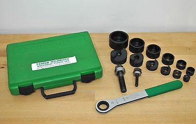 "Greenlee Tools ½–2"" SlugBuster Manual Knockout Punch Kit 7238SB Ratchet Wrench"