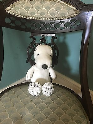 Cute Rare Limited Edition Snoopy Leatherette Toy Then And Now