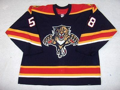 2006-07 Bret Nasby Florida Panthers Game Used Worn Reebok Jersey! MeiGray