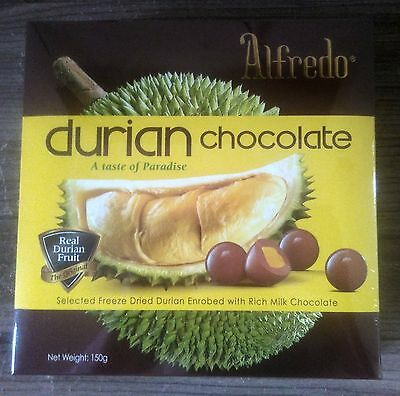 Real Durian Milk Chocolate Taste 150g Per Box from Malaysia