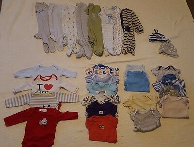 Baby boys 0-3 months large bundle of vests and babygrows