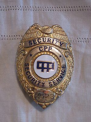 Obsolete CPP Security Service Badge #2523