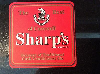 Sharp's brewery of Cornwall old beer mat
