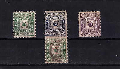 Korea 1895 Flag Issues M/u W/f Fillers