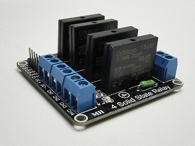 4 Channel 5V DC G3MB-202P Relay Module Solid State SSR Arduino Raspberry Pi