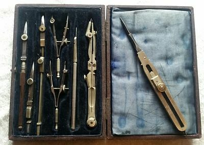 Genuine WW1 British Map Makers Cased Drawing Instruments c1915