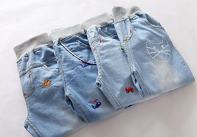 3T - 7T Spring & Summer Kids Stylish Children's Pants Girl Jeans Soft Trousers