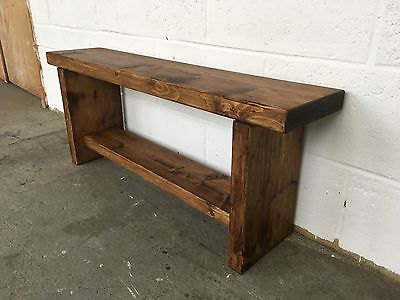 Quality-Wooden-Handmade-Garden / Patio Bench, Chunky and Sturdy