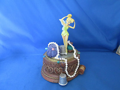 Disney Tinkerbell Rotating Music Box Needles Spools & Thread - You Can Fly Song