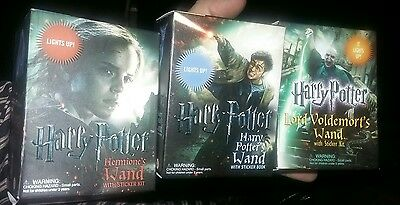 3 pc set Harry Potter Lord Voldemort Hermine Magic Wand With Sticker Kit