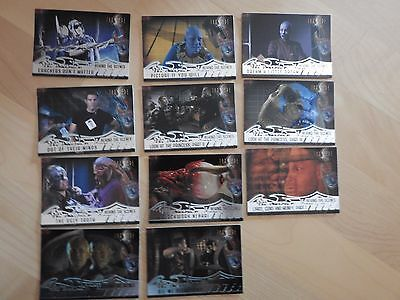 Farscape Season Two lot of 11 Behind-The-Scenes card