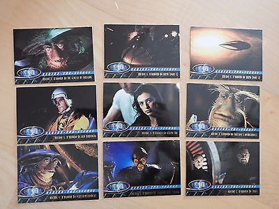 Farscape Season One Behind-The-Scenes Card complete set of 9 cards