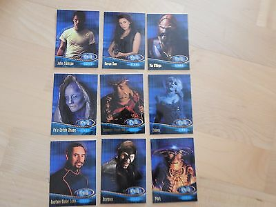 Farscape Season One Farscape Stars Card complete set of 9 cards