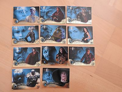 Farscape Season Two lot of 11 Alien Life cards missing only #AL4